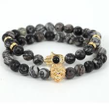 skull bracelet bead images Natural spider web jasper stone beads skull bracelets jpg