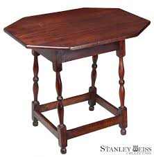 william and mary table a maple william and mary splay leg canted top tavern table c 1700