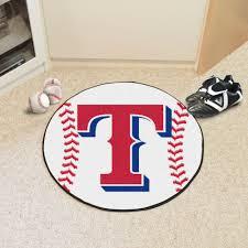 Baseball Area Rug Rangers Baseball Shaped Area Rug 22 X 35