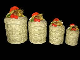 vintage lefton canister set vegetable canisters kitchen