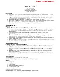 Sample Resume No Experience by Cna Resume No Experience Template Resume Builder