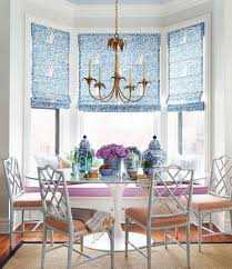 dinning kitchen window coverings roman blinds dining room window