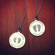 custom engraved necklaces 7 8 inch sterling silver custom engraved baby footprint charm