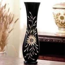 Buy Vases Online Buy Long U0027n U0027 Strong Black Vase Wooden Flower Vases Online At Low