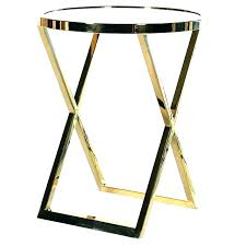 gold metal side table gold metal side table round glass end tables large size of set round