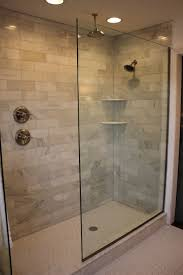 Beveled Subway Tile Shower by Doorless Walk In Shower Designs Shower Handle On Separate Wall