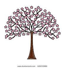 beautiful vector tree designs different seasons stock vector
