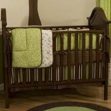 Green And Brown Crib Bedding by Soho Sage U0026 Brown Suede 10 Pcs Baby Crib Bedding Set Details At