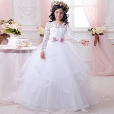 new arrival elegant pageant dresses for juniors white bow sash o