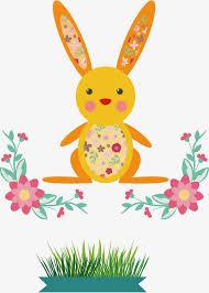 rabbit material rabbit flowers vector rabbit rabbit material rabbit element png