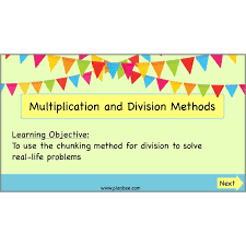 multiplication and division methods the chunking method