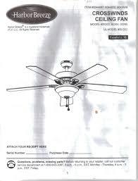 harbor breeze ceiling fan manual harbor breeze crosswinds ceiling fan instruction installation guide