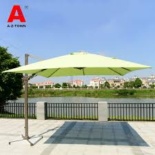 Side Patio Umbrella Outdoor Patio Umbrella Shade Awning Aluminum Side Park Umbrellas