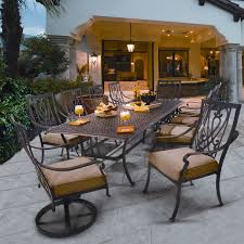 Wrought Iron Patio Dining Set - saratoga 11 piece patio dining collection