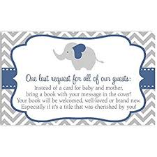 bring a book instead of a card baby shower elephant baby shower bring a book inserts navy