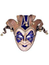 blue masquerade masks deluxe jester blue masquerade mask