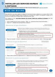 installer bureau à distance calaméo mémo fiche 2012 9 installer les services de bureau à