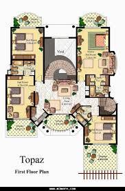 villa plan modern duplex villa plans detail