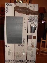 tableau memo cuisine tableau mémo de cuisine en matériaux recyclés bois et ardoise