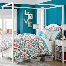 Pb Teen Bedrooms Beadboard Canopy Bed Trundle Pbteen