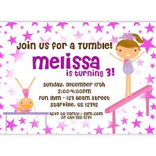Invitation Birthday Party Card Gymnastics Party Invitations U2013 Gangcraft Net