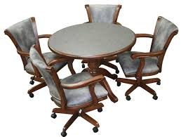 kitchen table and chairs with casters swivel dining chairs with casters unique chair 23 bmorebiostat com