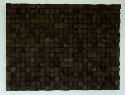 large wood wall monochromatic black geometric wooden