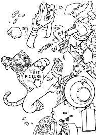 master tigress kung fu panda coloring pages kids