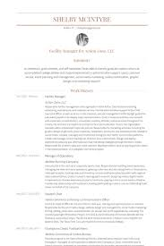 Event Manager Sample Resume by Facility Manager Resume Samples Visualcv Resume Samples Database
