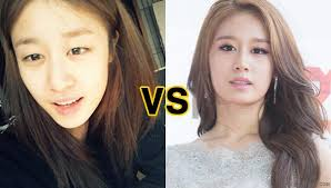 before and after without makeup 1 t ara jiyeon jiyeon nomakeup jpg celebs