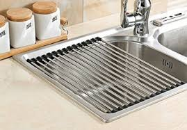 Dish Drying Rack For Sink Dish Drying Rack Over The Sink Roll Up 20x12 8 Steel Stainless Dry