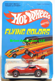 hotwheels corvette wheels line corvette stingray on flying colors unpunched card