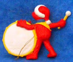 sesame street elmo playing his drum christmas ornament by kurt