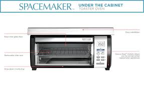 How A Toaster Oven Works Black Decker Spacemaker Toaster Oven Black And Stainless