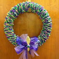 mardi gras bead wreath mardi gras wreath mardi gras bead wreath owl by funwithwreaths