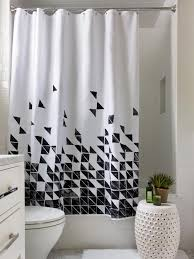 bathroom with shower curtains ideas great lessons you can learn from black and white fabric shower