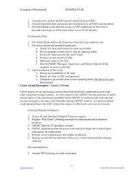 example crisis action plan 1