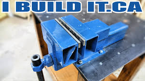 how to make a heavy duty steel vise youtube