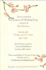 60th birthday invitation wording surprise wedding invitation sample