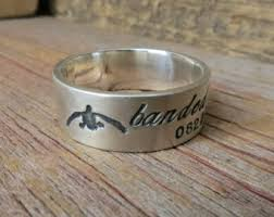 duck band wedding rings silver duck band etsy