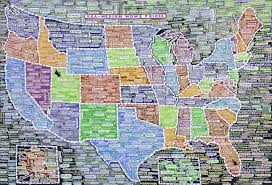 Map Art Paula Scher U0027s Insanely Detailed Us Maps Elevate Data Viz To Fine