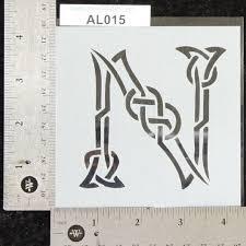 27 best celtic knot alphabet letter stencils images on