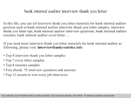 Internal Audit Job Description For Resume by Bank Internal Auditor