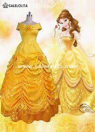 Bella Halloween Costume Beauty Beast Cosplay Bella Costume Yellow Belle