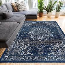Blue Area Rugs Well Woven Amba Blue Area Rug Reviews Wayfair Co Uk