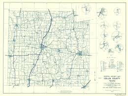 United States Highway Map by Old County Map Collin Texas Highway Highway Dept 1936