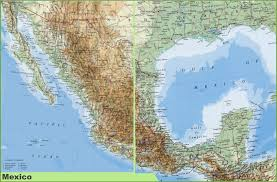Italy Physical Map by Large Detailed Physical Map Of Mexico