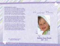 baby funeral program funeral program