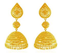 gold earrings jhumka design 22 karat gold jhumka ajer61875 us 1 715 22k gold earrings