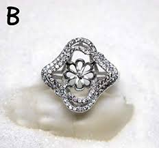 gem silver rings images Sterling silver 925 ring mounts for pearls gems jpg